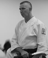 Sensei Heseltine with katana